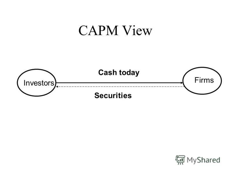 CAPM View Investors Firms Securities Cash today