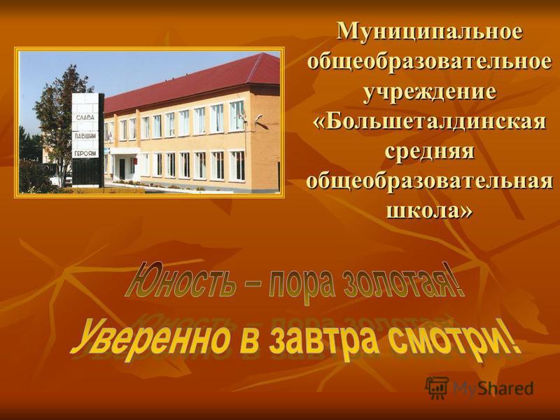 Муниципальное общеобразовательное учреждение «Большеталдинская средняя общеобразовательная школа»