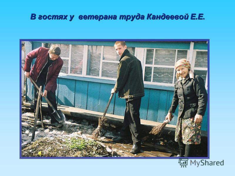 В гостях у ветерана труда Кандеевой Е.Е.