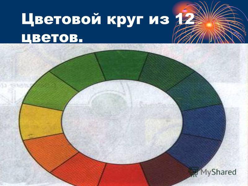 Цветовой круг из 12 цветов.