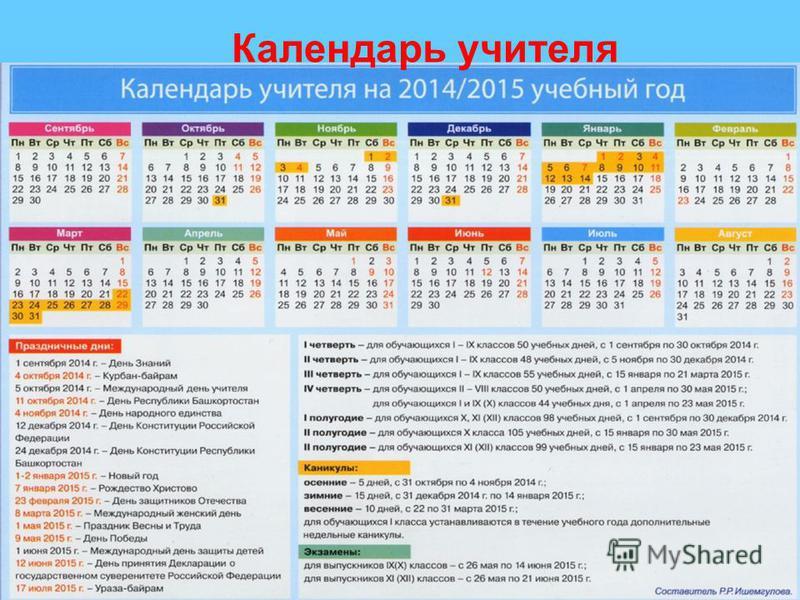 Календарь учителя