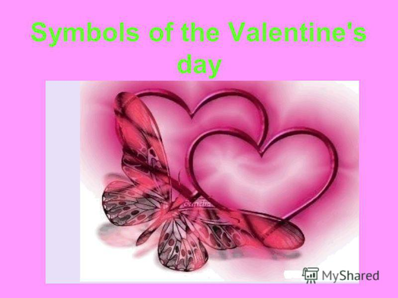 Symbols of the Valentine's day