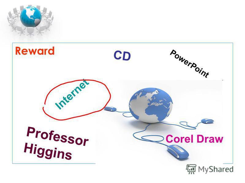 Reward Professor Higgins PowerPoint Internet CD Corel Draw