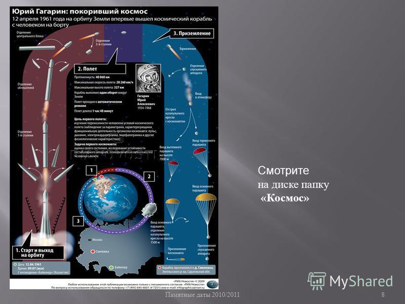 8 Смотрите на диске папку «Космос»