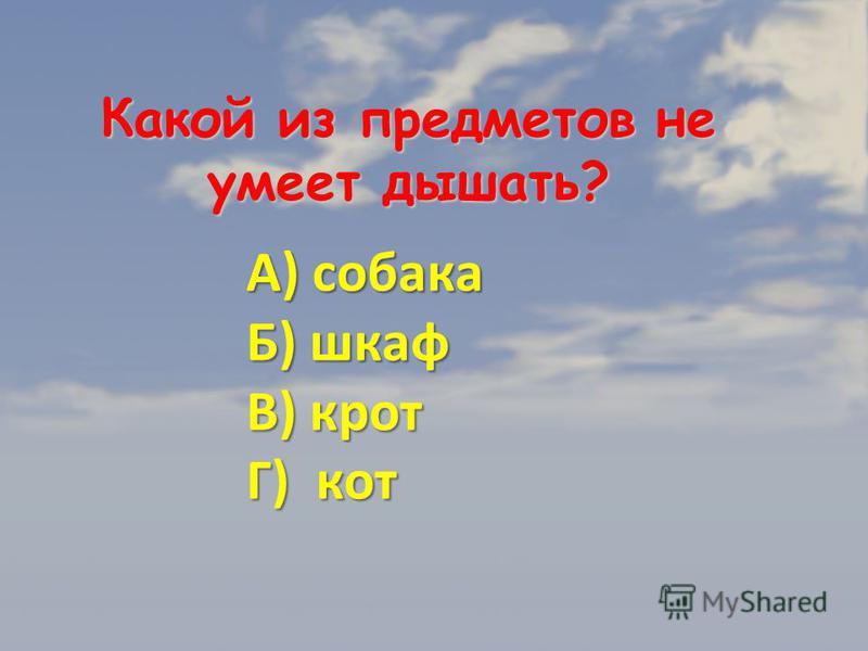 Ответ: «А».