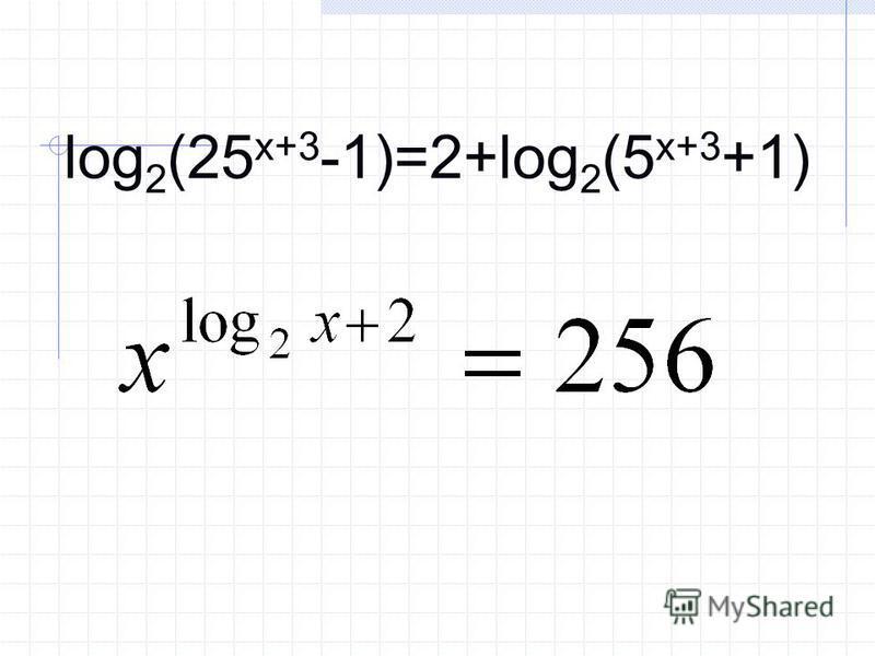 log 2 (25 x+3 -1)=2+log 2 (5 x+3 +1)