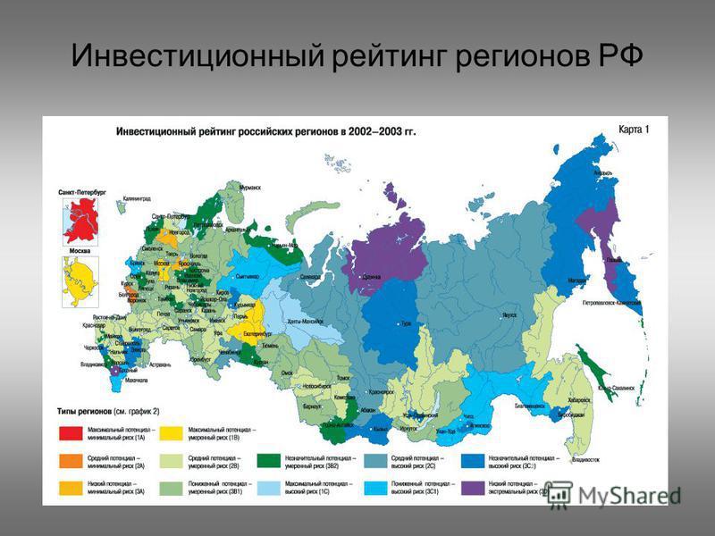 Инвестиционный рейтинг регионов РФ