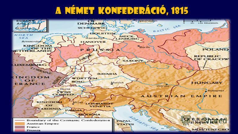 A német konfederáció, 1815
