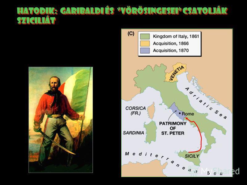 ötödik: Ausztrák-Porosz háború, 1866 Ausztria elvesztette velencét. Velencét csattolták itáliához.