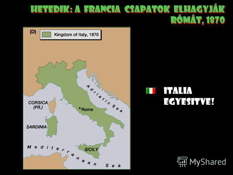 hatodik: Garibaldi és vörösingesei csatolják sziciliát