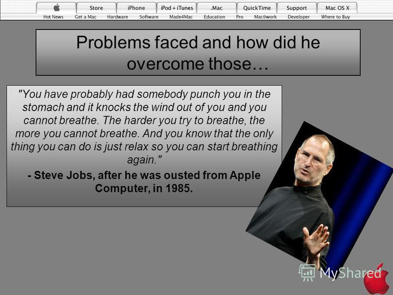 Problems faced and how did he overcome those…