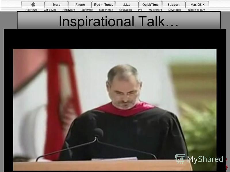 Inspirational Talk… 21