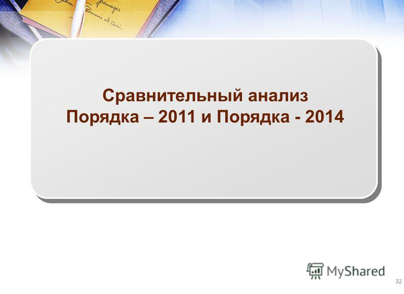 32 Сравнительный анализ Порядка – 2011 и Порядка - 2014
