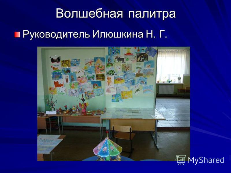 Волшебная палитра Руководитель Илюшкина Н. Г.