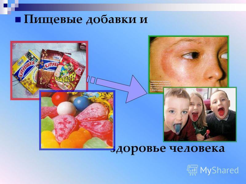 Пищевые добавки и здоровье человека
