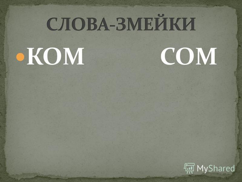 КОМСОМ