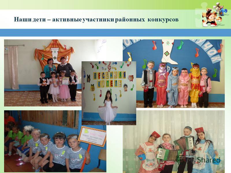 Наши дети – активные участники районных конкурсов
