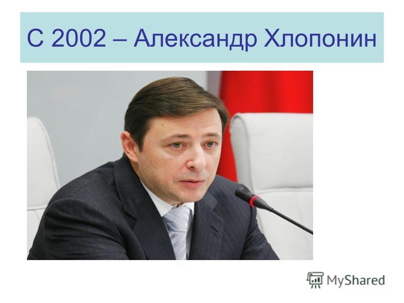 С 2002 – Александр Хлопонин