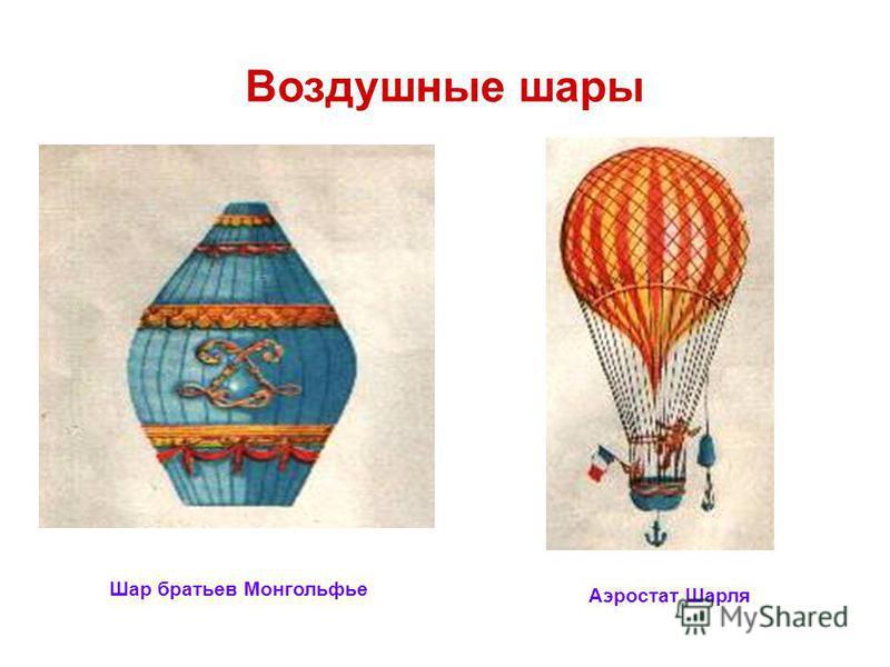 Воздушные шары Шар братьев Монгольфье Аэростат Шарля