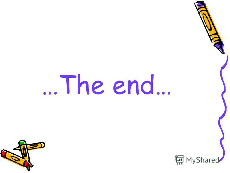…The end…