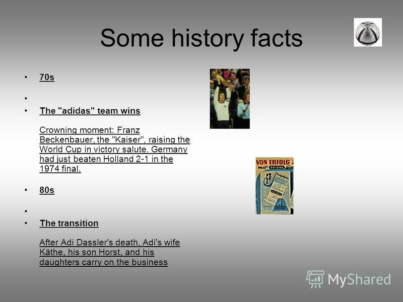 Some history facts 70s The