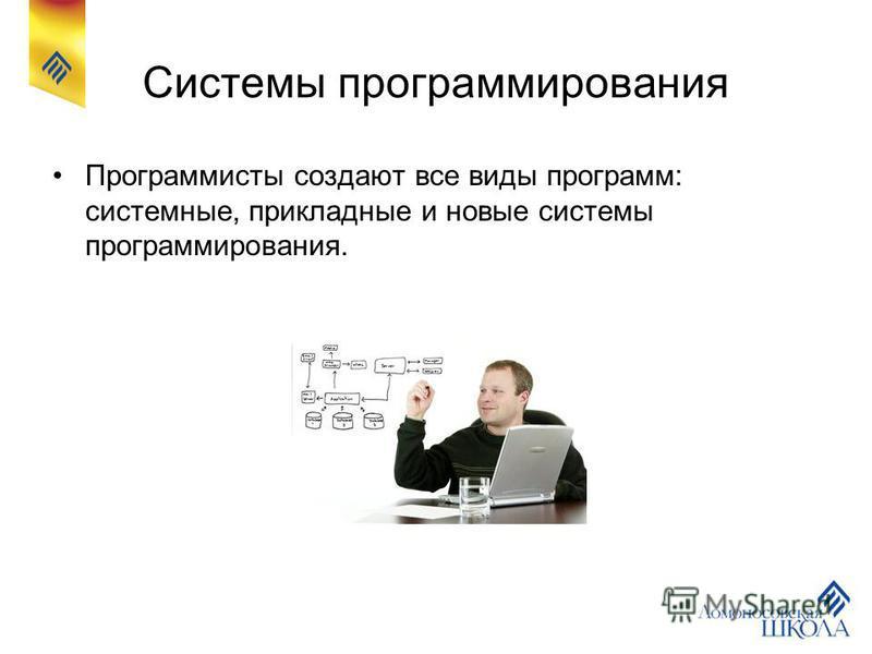Системы программирования Программисты создают все виды программ: системные, прикладные и новые системы программирования.