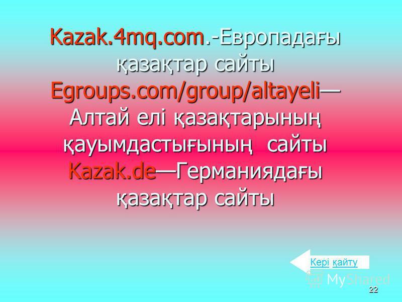 21 Onclinic.ru Qadran.ru. Narcotikam.net.kz. Softkey.kz. Kazakhstan-businees.com. History.kz.Ct.kz. Info.kz.com.Medportal.kz. Siemens.kz.Doverie.kz. Yellow-paqes.kz. Poligon.kz. News.central.kz. КеріКері қайту