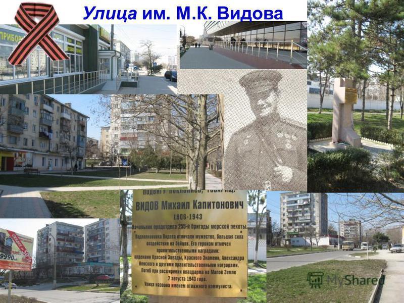 Улица им. М.К. Видова