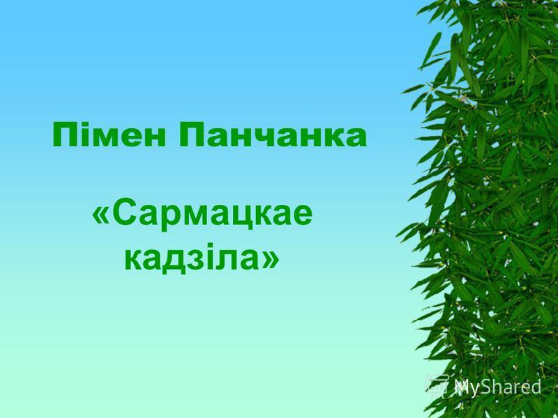 Пiмен Панчанка «Сармацкае кадзiла»