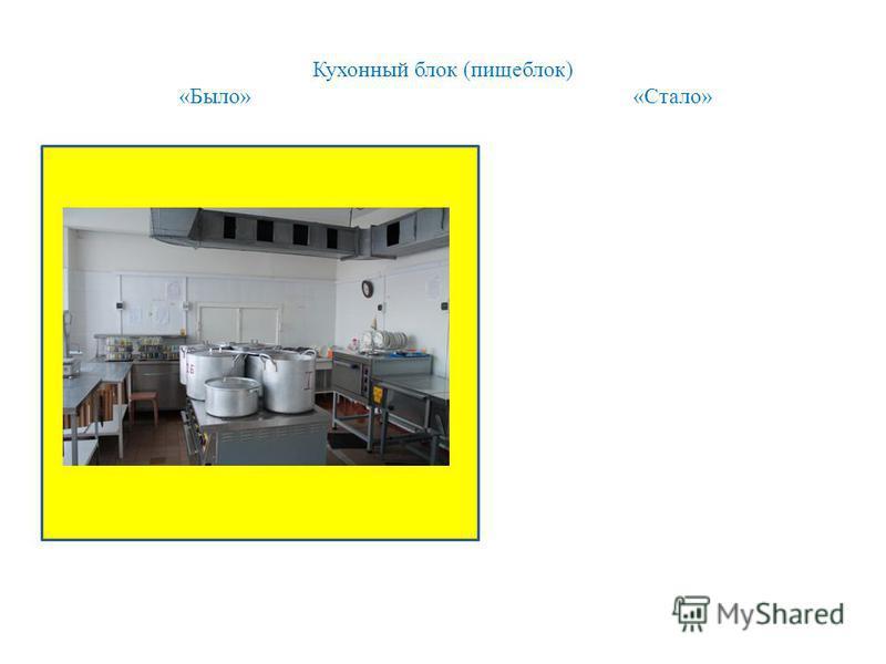 Кухонный блок (пищеблок) «Было» «Стало»