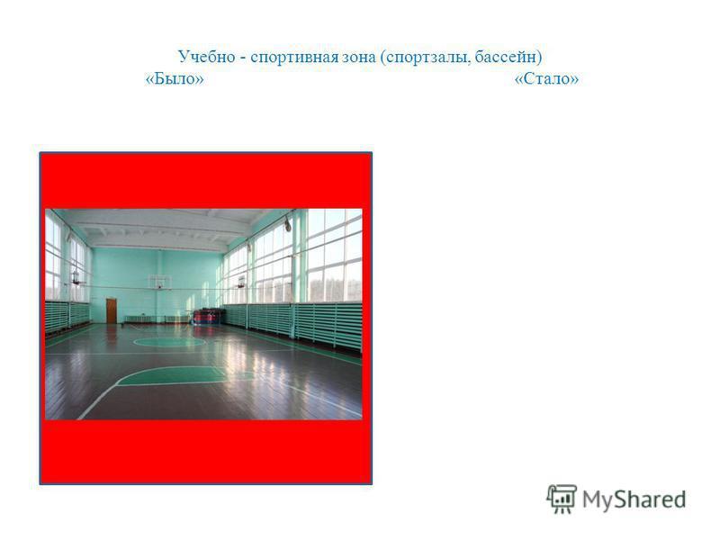 Учебно - спортивная зона (спортзалы, бассейн) «Было» «Стало»