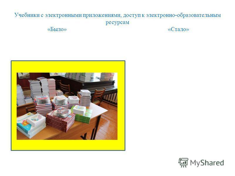 Учебники с электронными приложениями, доступ к электронно-образовательным ресурсам «Было» «Стало»