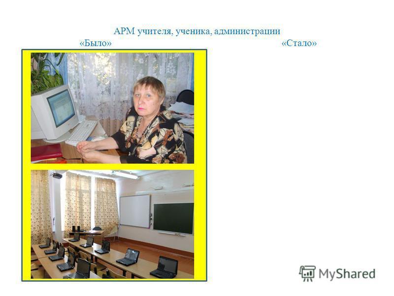 АРМ учителя, ученика, администрации «Было» «Стало»