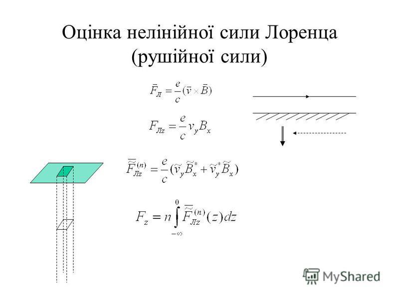 Оцінка нелінійної сили Лоренца (рушійної сили)
