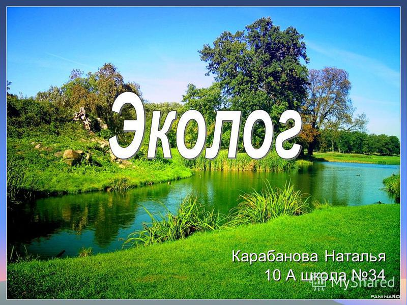 Карабанова Наталья 10 А школа 34