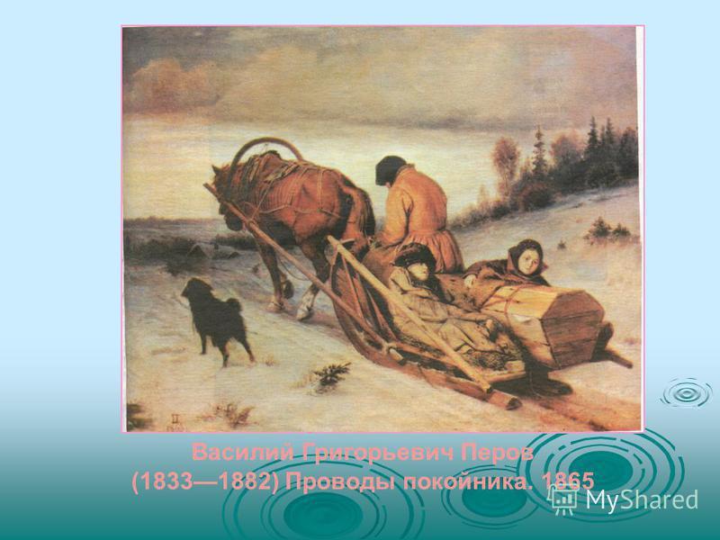 Василий Григорьевич Перов (18331882) Проводы покойника. 1865