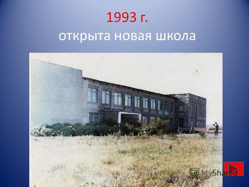 1993 г. открыта новая школа