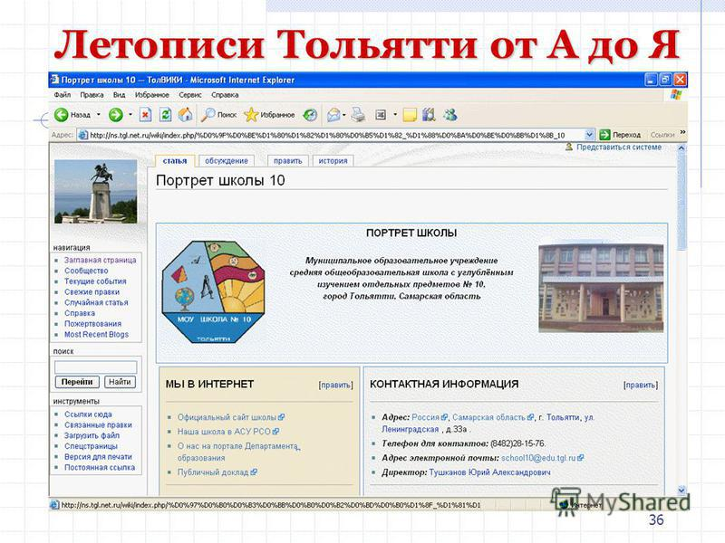 36 Летописи Тольятти от А до Я