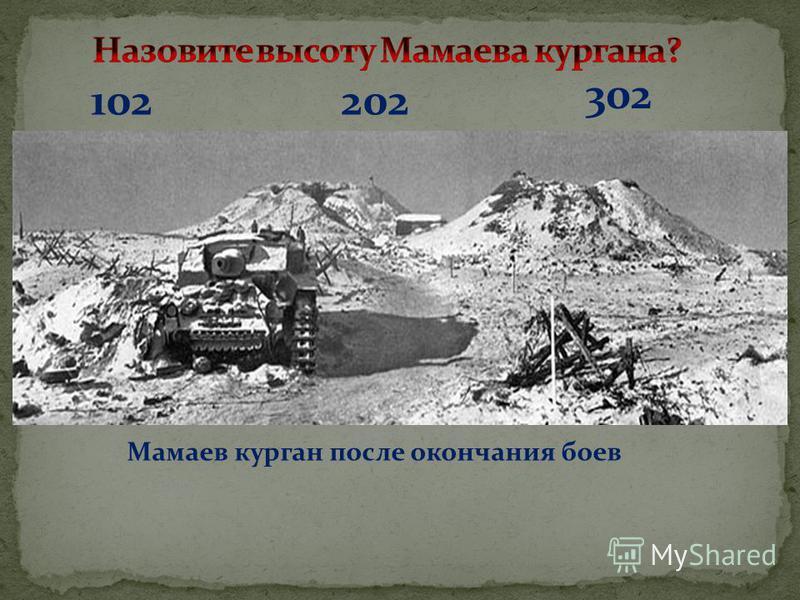 102 302 202 Мамаев курган после окончания боев