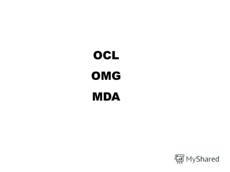 OCL OMG MDA