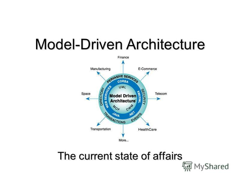 Model-Driven Architecture The current state of affairs