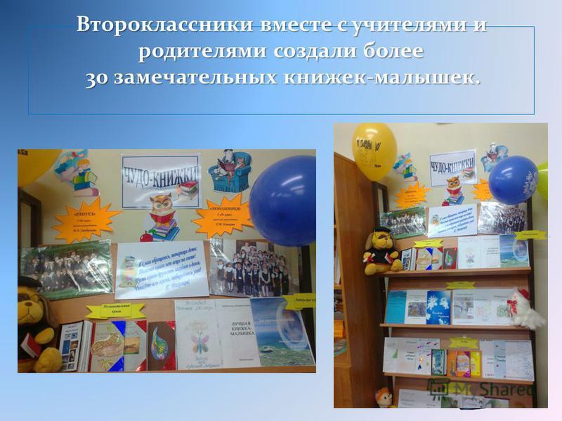 Второклассники вместе с учителями и родителями создали более 30 замечательных книжек-малышек.