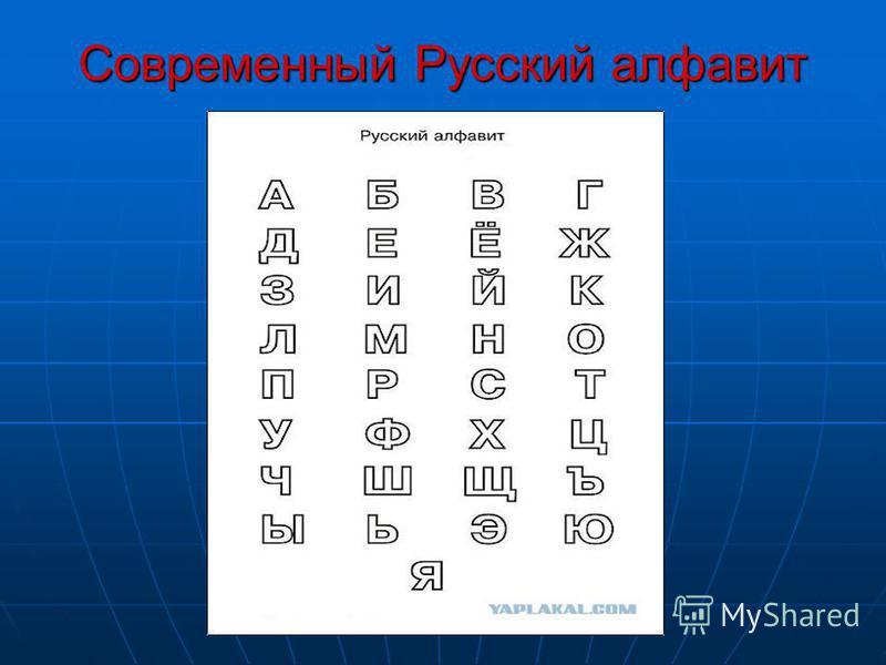 Современный Русский алфавит