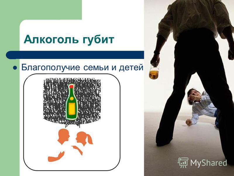 Алкоголь губит Благополучие семьи и детей
