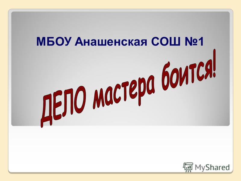 МБОУ Анашенская СОШ 1