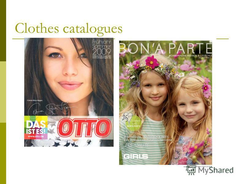Clothes catalogues