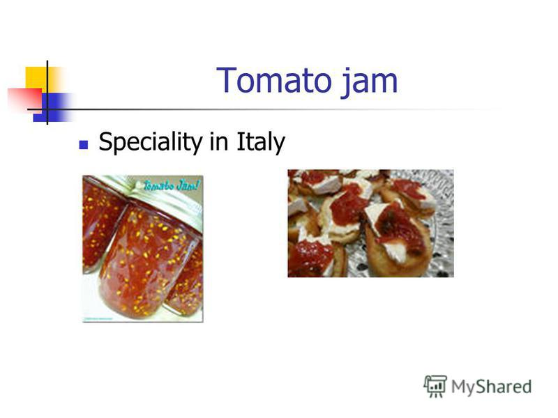 Tomato jam Speciality in Italy