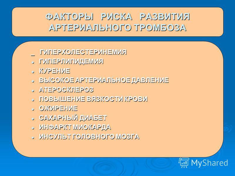 _ ГИПЕРХОЛЕСТЕРИНЕМИЯ _ ГИПЕРХОЛЕСТЕРИНЕМИЯ ГИПЕРЛИПИДЕМИЯ ГИПЕРЛИПИДЕМИЯ КУРЕНИЕ КУРЕНИЕ ВЫСОКОЕ АРТЕРИАЛЬНОЕ ДАВЛЕНИЕ ВЫСОКОЕ АРТЕРИАЛЬНОЕ ДАВЛЕНИЕ АТЕРОСКЛЕРОЗ АТЕРОСКЛЕРОЗ ПОВЫШЕНИЕ ВЯЗКОСТИ КРОВИ ПОВЫШЕНИЕ ВЯЗКОСТИ КРОВИ ОЖИРЕНИЕ ОЖИРЕНИЕ САХАРН