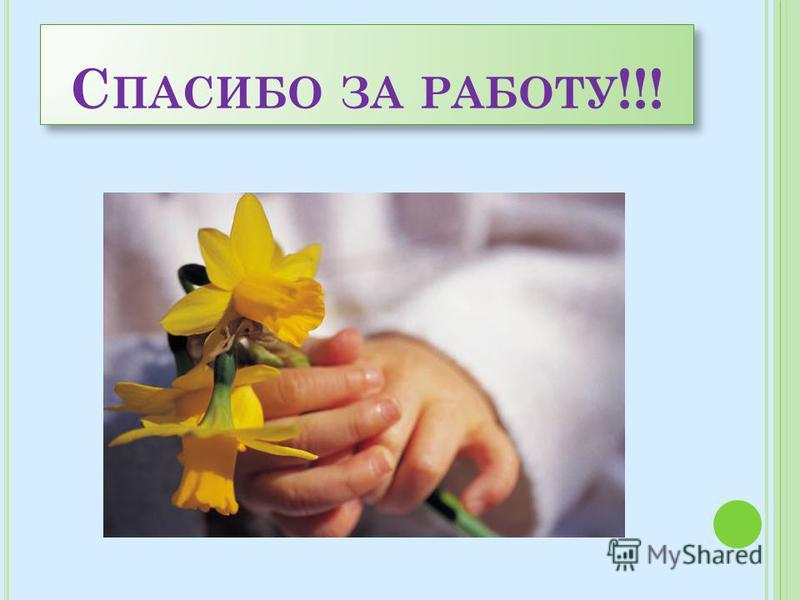 С ПАСИБО ЗА РАБОТУ !!!