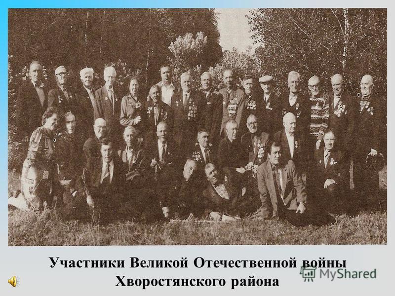 Участники Великой Отечественной войны Хворостянского района